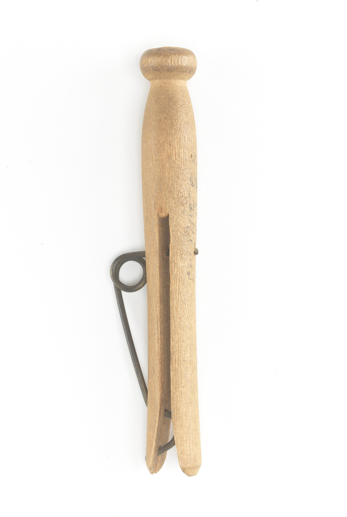Patent Model For A Clothespin, Patent No. 272,762 (USA), February 20, 1883