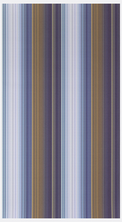 Irregular stripe pattern in shades of purple, terra cotta, white and blue.