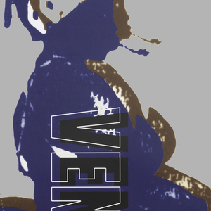 Blue silhouette, with brown shadow, of African Venus with Public Theater logo upper right. Under logo, left edge: WRITTEN BY SUZAN-LORI PARKS / DIRECTED BY RICHARD FOREMAN. In text block, lower right: Have you / heard about / the Bump she has / (though strange it be) / Large as a caldron pot? / This is why men go to see / The Venus Hottentot.
