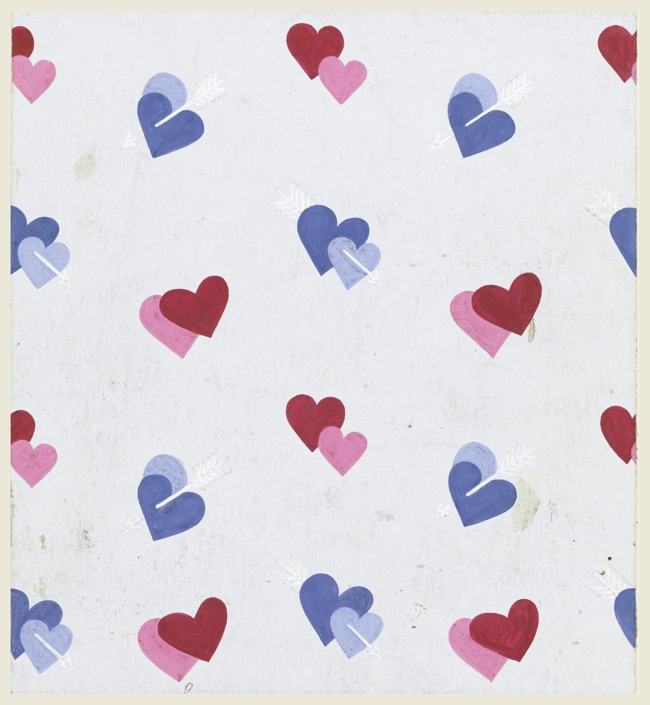 Drawing, Heart Motifs, Textile Design