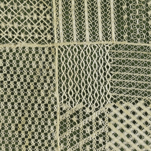Net divided into a grid of twelve squares.