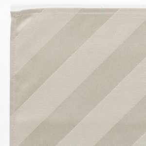 Cloth woven with diagonal stripes and Luftansa woven into the corner.