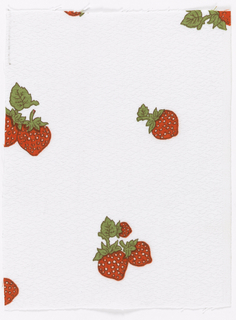 Isolated strawberries on white ground.