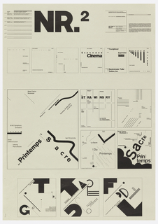 Typographic poster in black ink.
