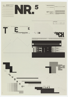 Poster, NR.5-Typographic Process, Typographis als < Malerei> [Typography as <Painting>], from the School of Design, Basel