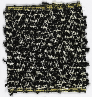 Black knots with white lines with bouclé.