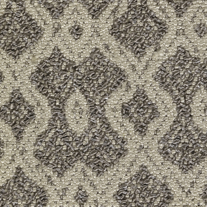 Rhomboid pattern in light and dark greys with bouclé.