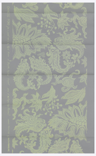 This paper was reproduced from an original at the Royal Pavillion at Brighton.