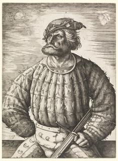Print, Portrait of Conrad von der Rosen