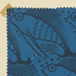 Portfolio with 13 printed samples of various designs. Made by the Milwaukee W.P.A. Handicraft Project.
