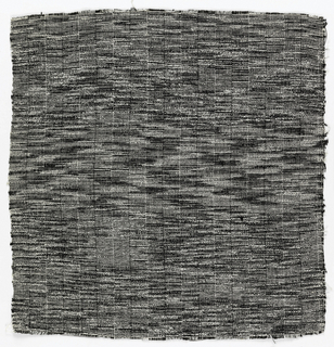 Vertical bands woven in black and white.