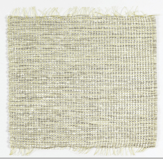 Square for a screen or wall covering in shades of white and gray.