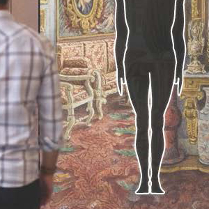 Gesture Match, constructed in three modules, will allow visitors to scan their bodies, view and save their body measurements, and compare their bodies to various norms, such as national average, global average, average height in the 15th century. More narrative possiblities under consideration as well. If possible, we will incorporate body ideals such as Leonardo Man, Neumier Man, and Schlemmer Man into Gesture Match interactive.