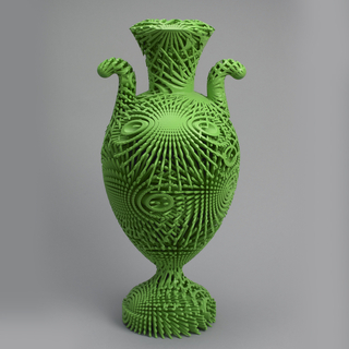 Tall Green Bloom Urn
