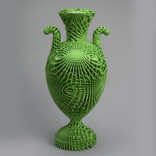 Tall Green Bloom Urn Urn