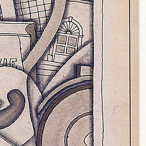 Drawing, Design for Saks Fifth Avenue Advertising Brochure
