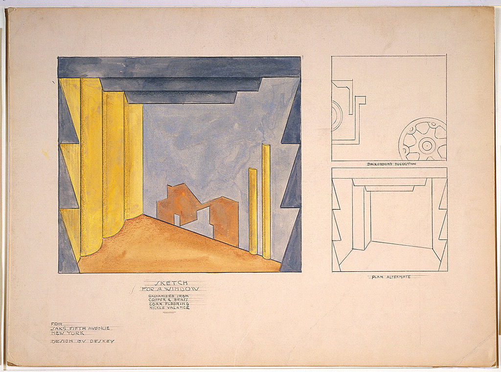 Drawing, Design for Window Display, Saks Fifth Avenue, New York, NY