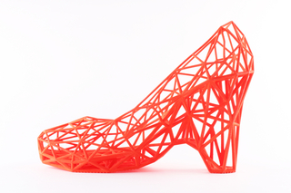 3D-printed shoes and fabric