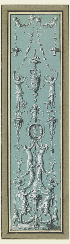 Drawing, Panel of Arabesques for the Hôtel de Salm, Paris