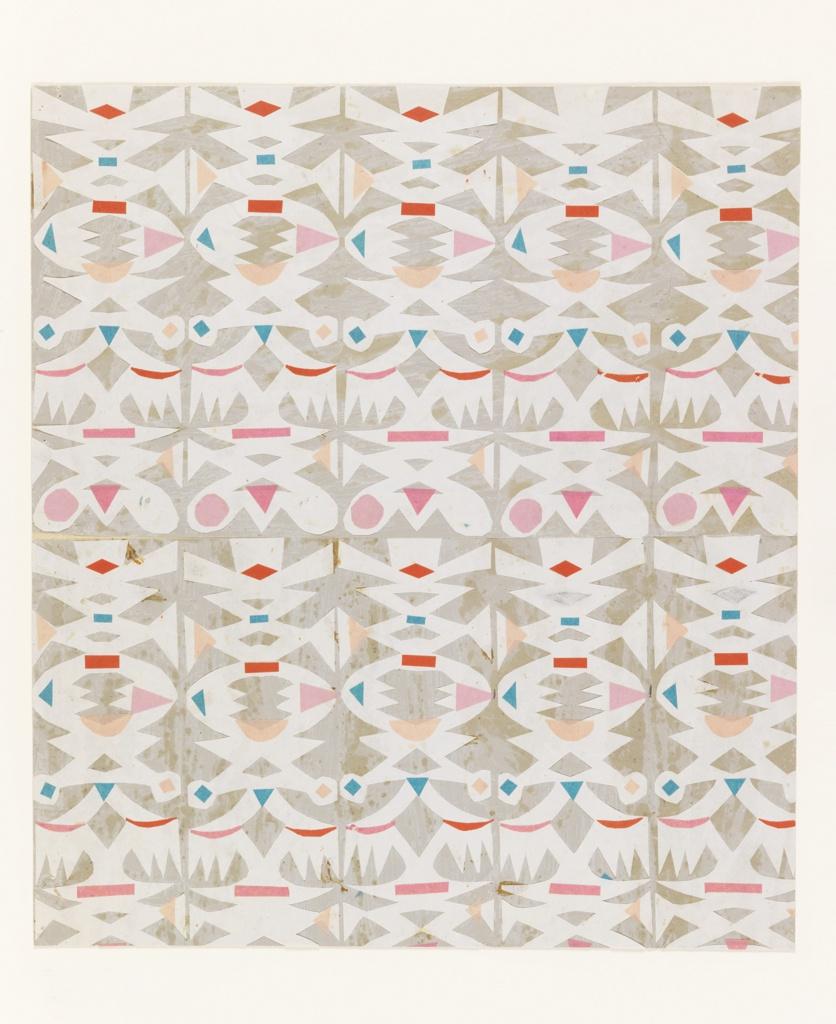 Collage, Design for Textile: Cutout, no. 640
