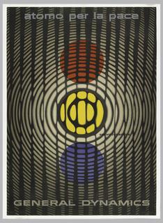 Poster, Atomo per la pace, General Dynamics