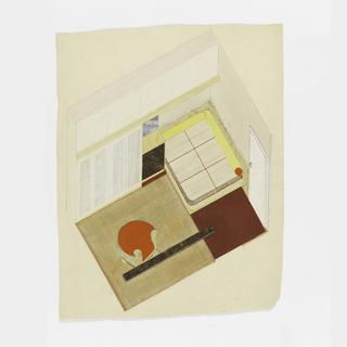 Drawing, Design for a Modern Bedroom/Living Room