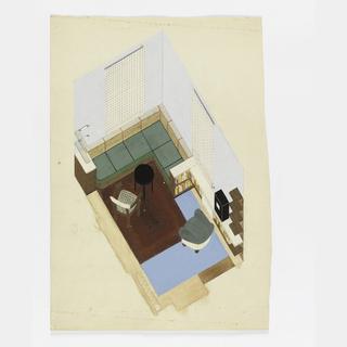 Drawing, Design for Modern Living Room/Bedroom