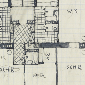 Architectural plan. Inscribed in red pencil, upper right: Malfattigasse 31.