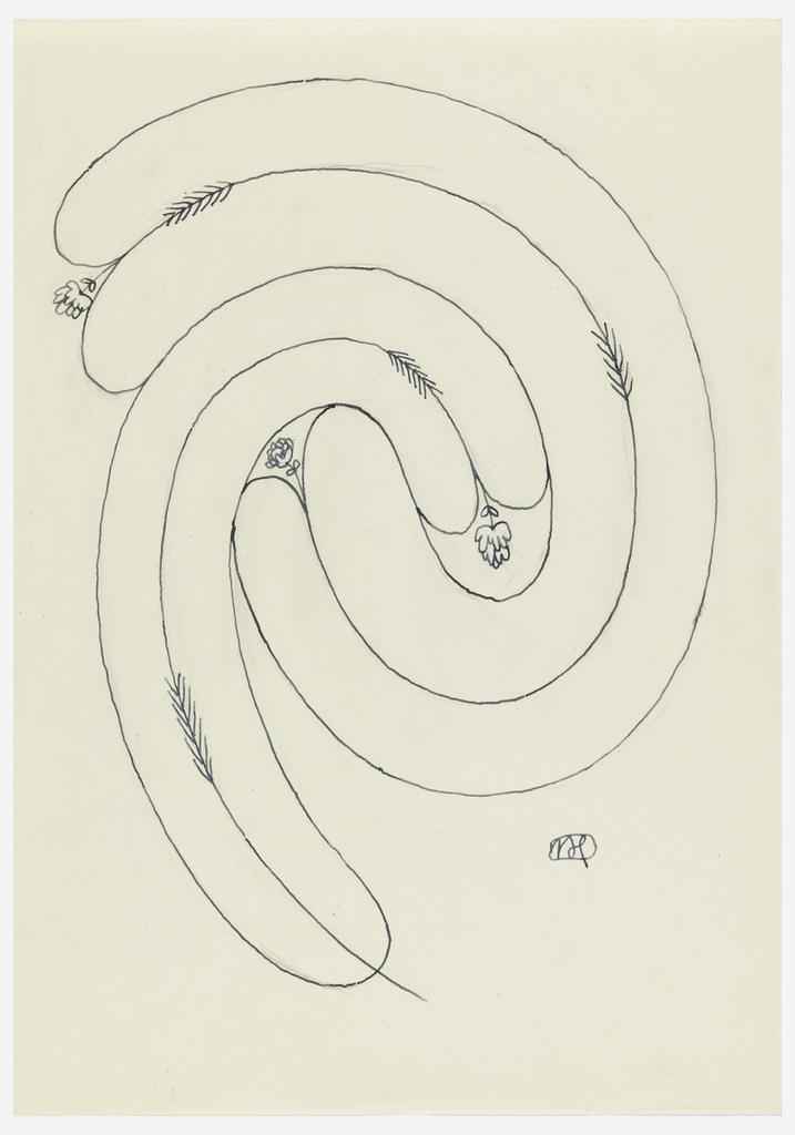 Ornamental spiral design.