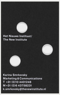 Business Card, New Institute Business Card