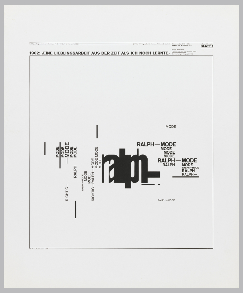 "Poster features the words ""ralph mode"" in different typography."