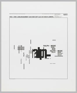 Poster, Beiträge zu Fragen der visuellen Gestaltung 14, Blatt 1 from the portfolio Dokumentation 1960—1970, Arbeiten von W. Weingart