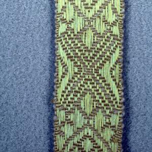 Design of yellow ornamental lozenges.