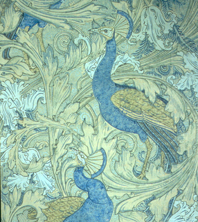 Peacocks and acanthus leaves.