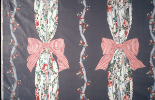 Textile With Swatch, Chelesa Bows