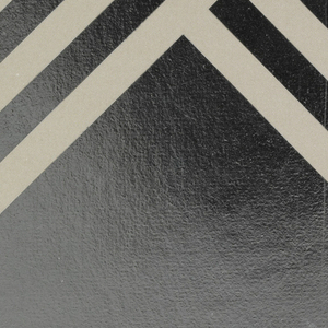Greeting card with the image of a silver and gray striped star against a white, silver, and gray backgound.