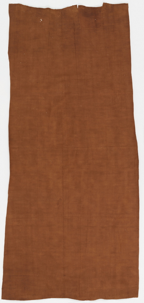 Length of reddish brown bark cloth.