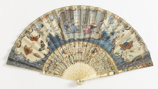 Pleated Fan And Case (France), 1730–60