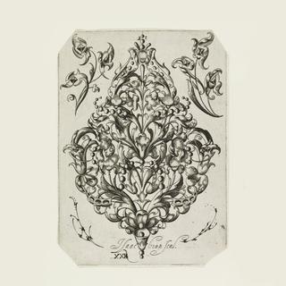 Print, Design for a Pendant, plate XXI, from the series Tabulae Gemmiferae XXIV