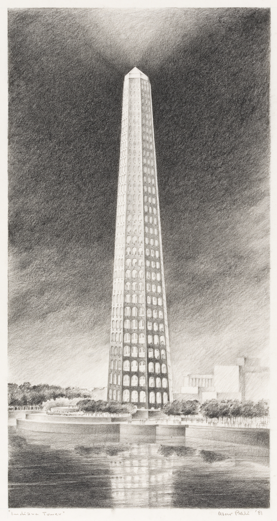 Drawing, Design for Indiana Tower