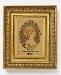 Portrait of Luise Auguste Wilhelmine Amalie, Queen of Prussia (1776-1810) in velvet.