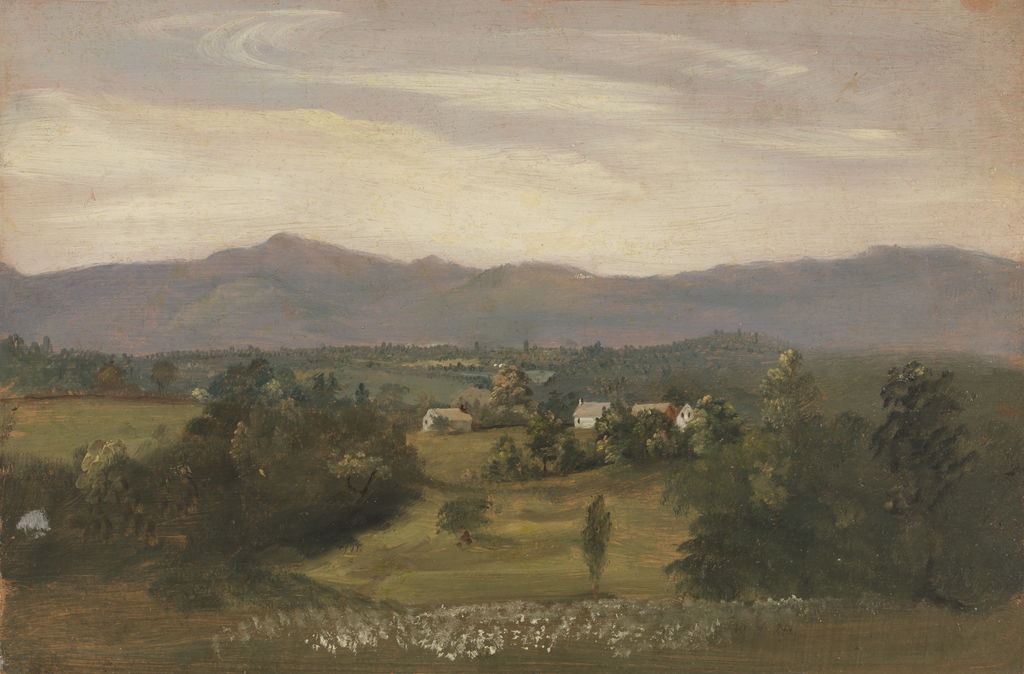 Drawing, View of the Catskills from the Hudson River Valley