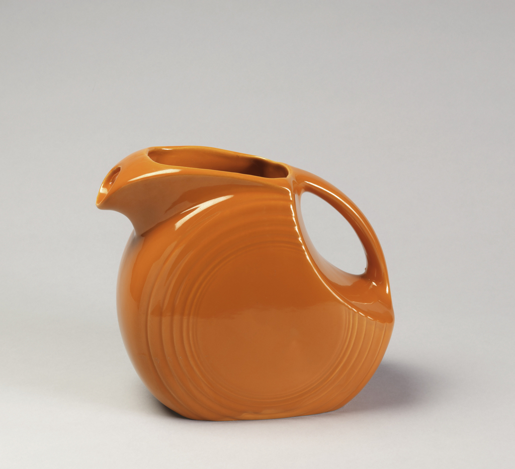 Orange pitcher.