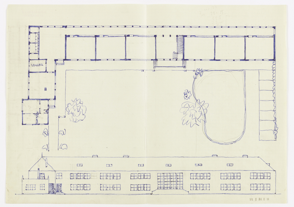 Drawing, Volksschule Stockerau (Stockerau Primary School - Floor