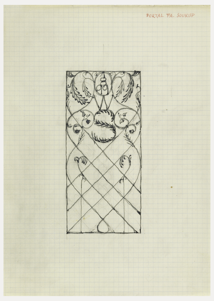 Design for a gate with vegetal motif.