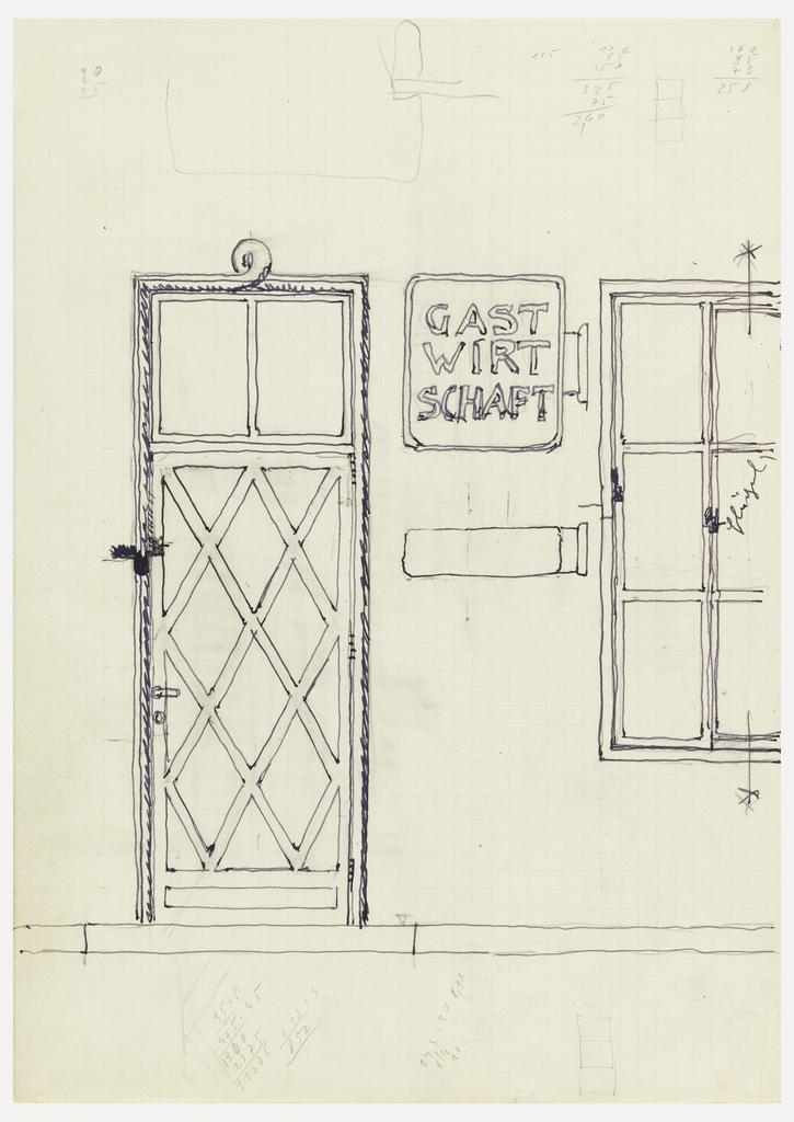 Doorway with window.