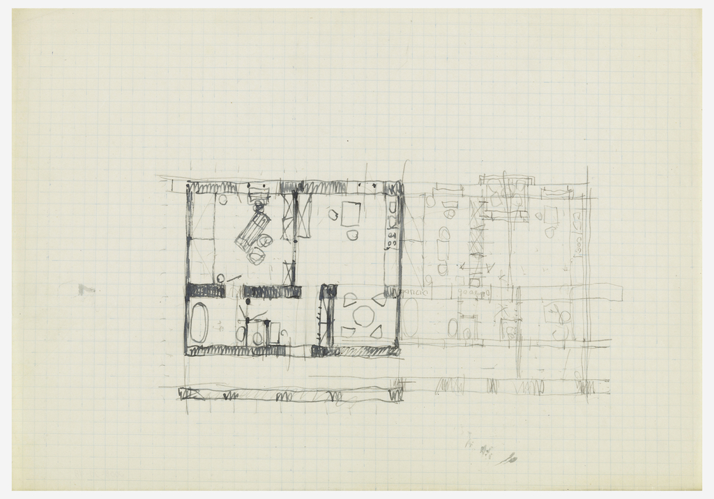 Two floor plans for a house.