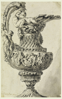 The Image Of Ewer Takes Up Entire Sheet Ewers Decoration Includes A Drawing