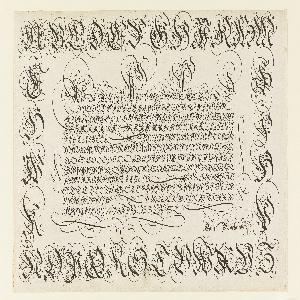 Print, Alphabet (Incunabulum page ?)