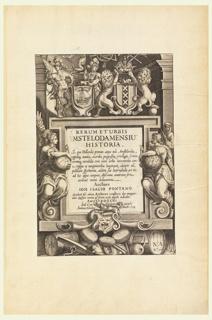 "Print, Title page, ""Rerum et Urbis Mstelodamensiu Historia..."""